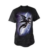 Alchemy Of England Men's  Lightning Dragon T-shirt Black