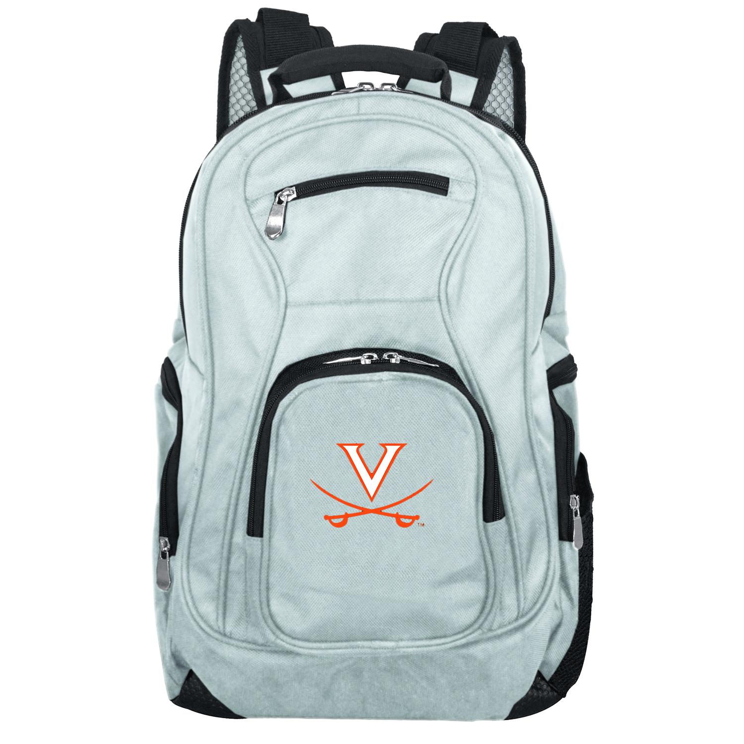 NCAA Virginia Cavaliers Gray Premium Laptop Backpack