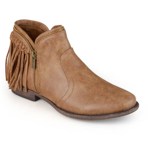 Brinley Co. Women's Fringed Almond Toe Riding Booties