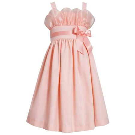eb34f76e1a Bonnie Jean Little Girls Peach Petal Party Dress 6