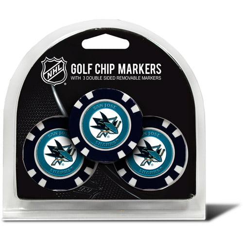 Team Golf NHL San Jose Sharks 3 Pack Golf Chip Ball Markers