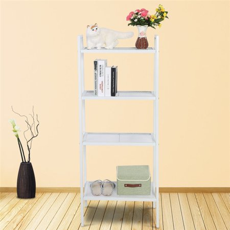 35*35*145cm Ladder Shape 4 Tier Design Shelf Unit Bookshelf Bookcase Book Storage Display Rack Stand Home