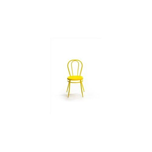 Pink and Brown m882-yellow Bistro Chair in Yellow - Pack of 4