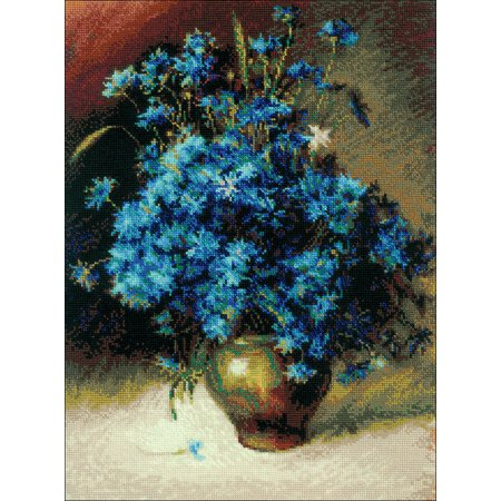 """Riolis Counted Cross Stitch Kit 11.8""""X15.8""""-Cornflowers (14 Count) - image 1 of 1"""