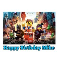 Lego Movie Image Photo Cake Topper Sheet Personalized Custom Customized Birthday Party - 1/4 Sheet - 75058