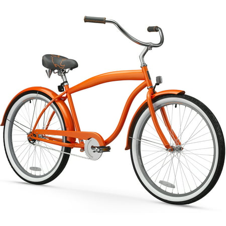 26 sixthreezero men 39 s mammoth single speed beach cruiser bicycle bicycle orange. Black Bedroom Furniture Sets. Home Design Ideas
