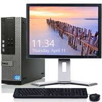 "Dell Optiplex Windows 10 Professional Desktop Computer Bundle Intel Core i3 Processor 4GB RAM 500GB Hard Drive DVD-RW with 19"" LCD Wifi Keyboard and Mouse - Refurbished"