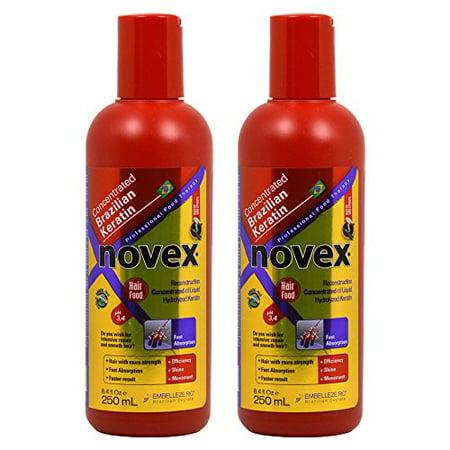 Novex Brazilian Max Keratin Concentrated Reconstruction Hair Food 8.4oz / 250ml