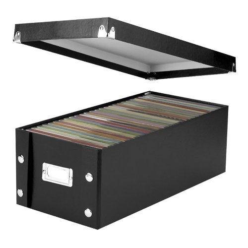 "Ideastream Snap-n-store Sns01524 Storage Box - 26 X Diskette - Heavy Duty - 5.5"" Height X 7.6"" Width X 15.8"" Depth External Dimensions - Fiberboard - Black - Disc/diskette Storage (SNS01524)"