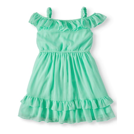 Wonder Nation Off-Shoulder Chiffon Dress (Toddler Girls)](Girls Winter Dresses On Sale)