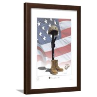 USMC Some Gave All Framed Print Wall Art By Marc Wolfe