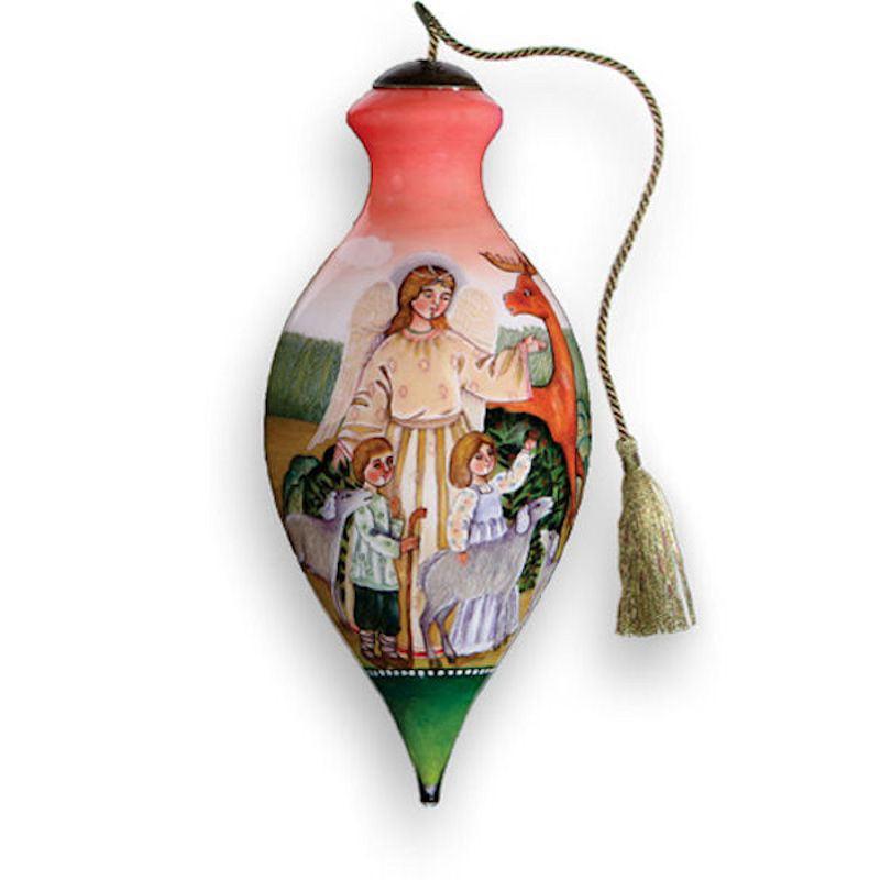Ne 'Qwa Art 217-AF-DB Spring Angel Hand-Painted Glass Orn...