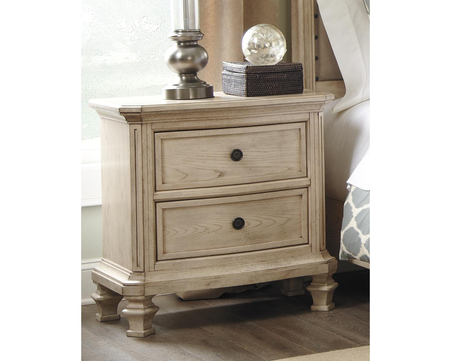 Signature Design by Ashley Furniture-Demarlos Nightstand-Casual Style-Parchment White