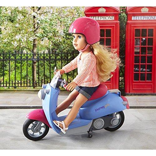 "Toys 'R' Us Journey Girls 18"" Doll Moped Scooter & Helmet..."