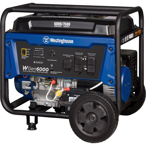 Westinghouse WGen6000 Gas Powered Portable Generator on