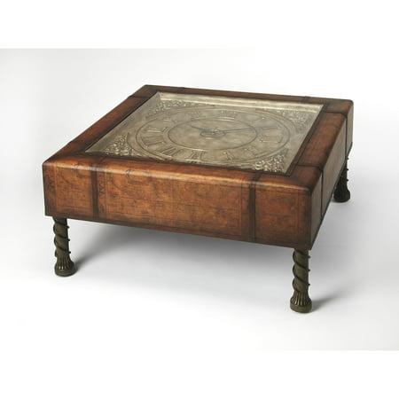 Butler Vasco Old World Map Clock Coffee Table