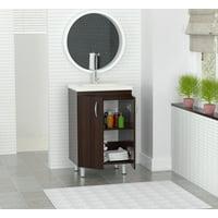 Inval 30 in. Laminate Bathroom Vanity with Polymer Sink Bowl, Espresso