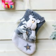 Liacowi Liacowi Thick Velvet Mini  Christmas Stockings  Gift Bag for Decorations-Santa, Christmas Elk and Snowman
