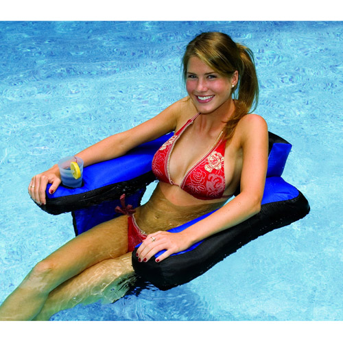 Fabric-Covered U-Seat Pool Float