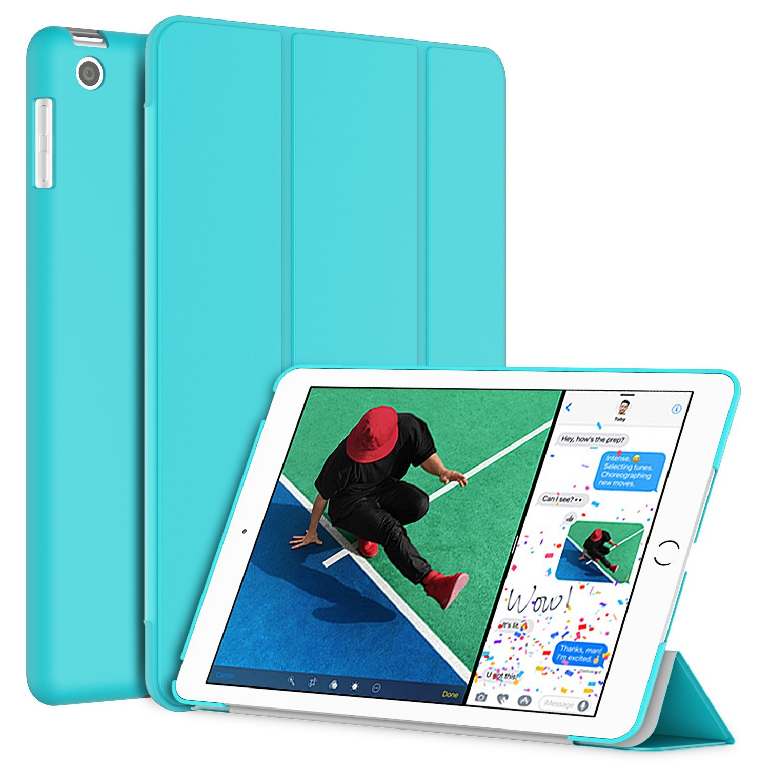 New iPad 2017/2018 iPad 9.7'' Case, SuprJETech Slim-Fit Smart Case Cover for Apple the New iPad 9.7 Inch 2017/2018 Model Lightweight with Stand and Auto Wake/Sleep