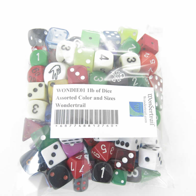 1lb of Dice Assorted Color and Sizes Wondertrail