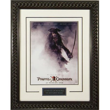 Athlon CTBL-015550 Pirates of The Caribbean- At Worlds End Unsigned Masterprint Movie Poster Custom Rope Framed Johnny Depp - Entertainment - P - 20 x 28 - Hector Barbossa