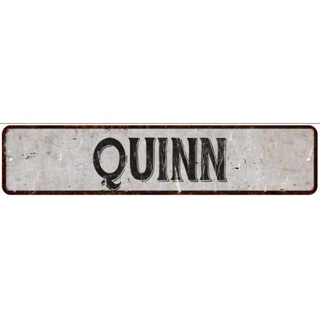 Quinn Street Sign Rustic Chic Sign Home Man Cave Decor Gift White G41804695