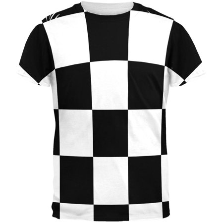 T-shirt Checkered Flag - Finish Line Checkered Flag All Over Adult T-Shirt