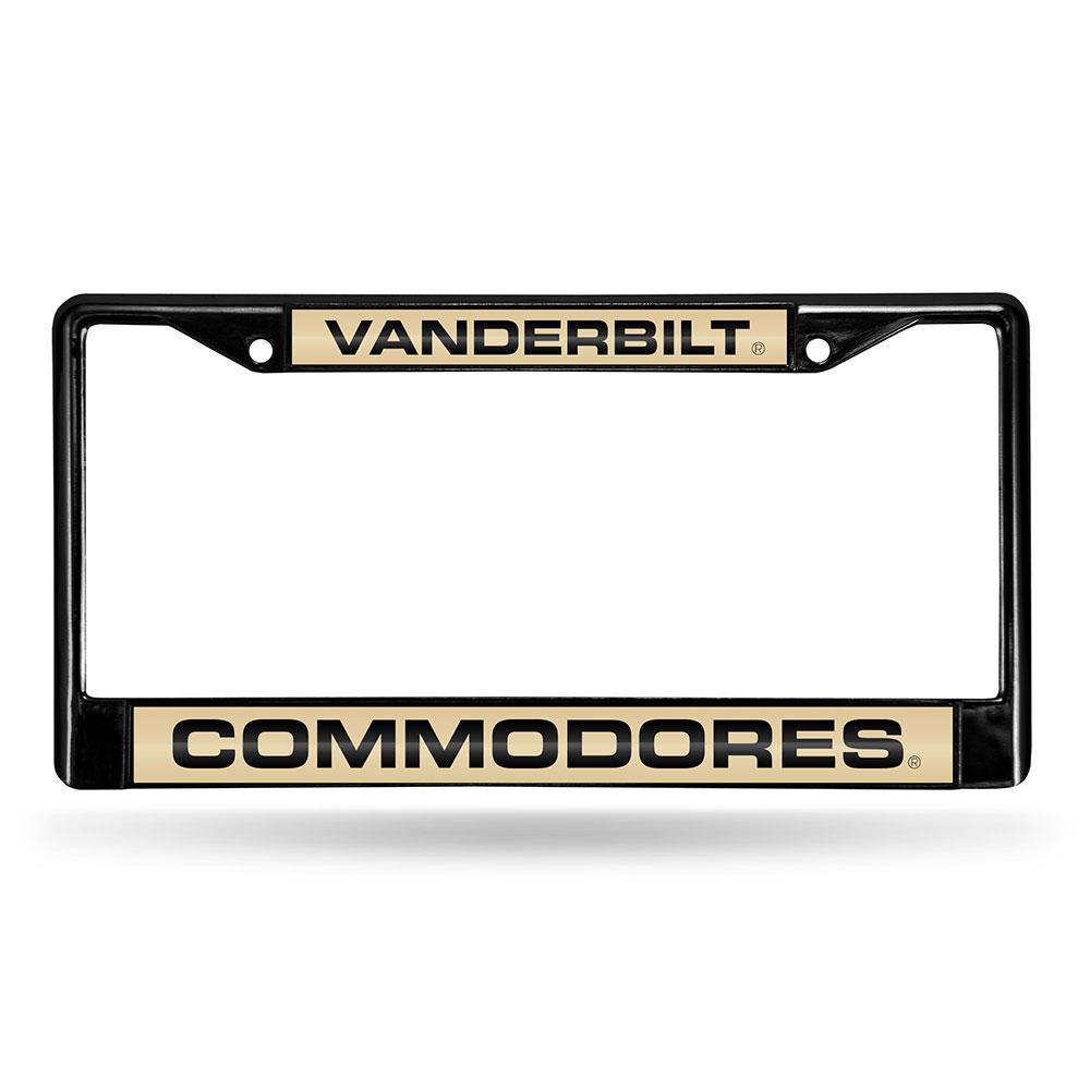 Vanderbilt Commodores NCAA Black Chrome Laser Cut License Plate Frame