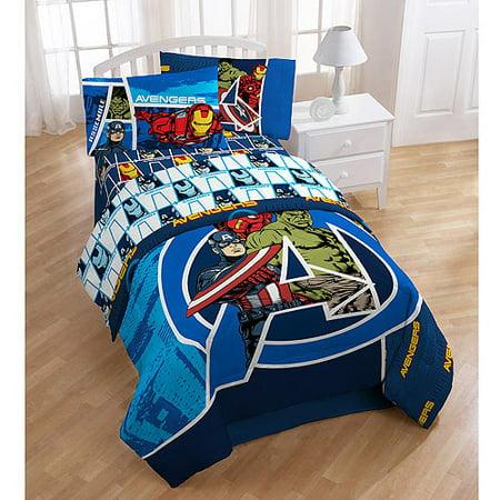 Avengers Polyester Bedding Sheet Set Walmart Com