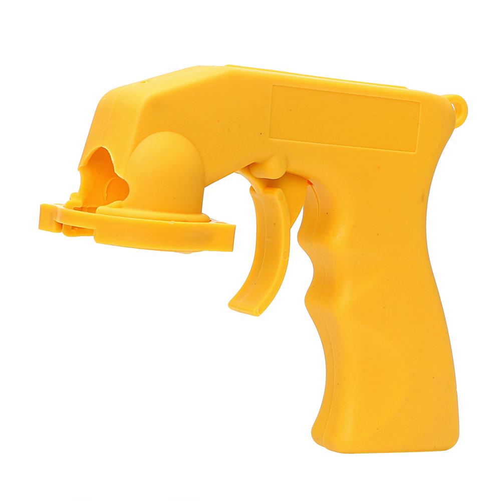 Spray Adaptor Paint Care Aerosol Spray Tool Handle with Full Grip Trigger Locking Collar Car Maintenance Car Styling Accessories (Yellow)