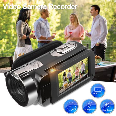 FLOUREON HD 1080P Camcorder Digital Video Camera DV 2.7 TFT LCD Screen 16x Zoom 270 Degrees Rotation for Sport /Youtube/Short Films Video Recording,