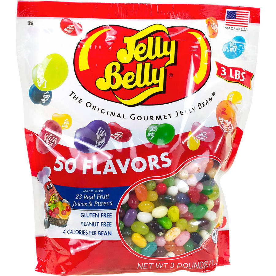 Jelly Belly 50 Flavors Jelly Beans, 3 lbs