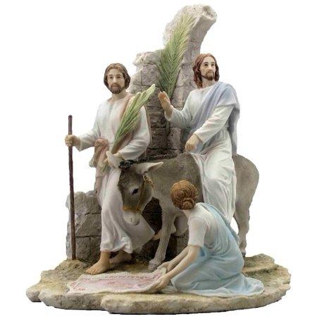13.38 Inch Jesus Enter Jerusalem on Palm Sunday - Light - Palm Sunday Colors