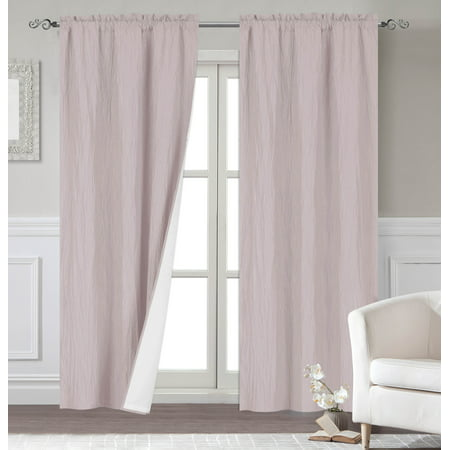 Venetian Window - Dainty Home Venetian Blackout Window Curtain Panel Pair with Thermal Lining