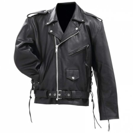 Cowhide Leather Motorcycle Vest - Rocky Mountain Hides Solid Genuine Cowhide Leather Classic Motorcycle Jacket- 3x