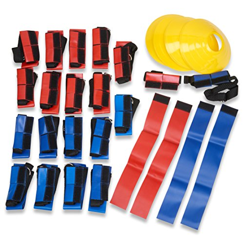 Unlimited Potential Flag Football Deluxe Set: Belts, Flags, Cones, Carry Bag by