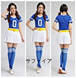 10-Color Girls Dance Costumes Stage Cheerleaders Performance Clothing Cheerleaders Baseball Football Cheers Costume Cosplay Costume Blue