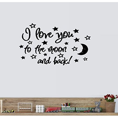 Decal ~ I LOVE YOU TO THE MOON AND BACK #3 ~ WALL DECAL, 13