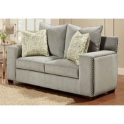 Loveseat with Zippers in Gray