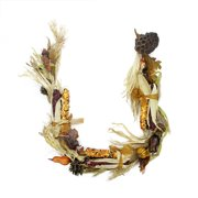 5' Autumn Corn and Harvest Gourd Artificial Thanksgiving Garland - Unlit