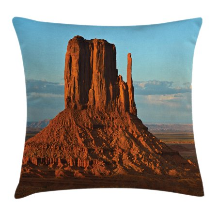 House Decor Throw Pillow Cushion Cover, Panorama of Popular American Canyon by Process of Long Erosion and Wind Theme, Decorative Square Accent Pillow Case, 16 X 16 Inches, Blue Orange, by Ambesonne](Popular Themes)