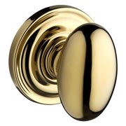 Baldwin Ellipse Double Dummy Door Knob with Traditional Round Rose