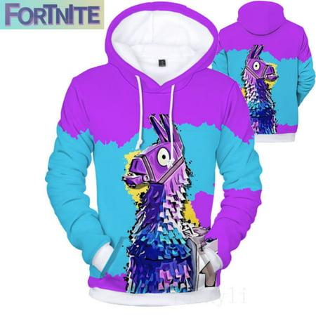 Fortnite Fashion 3D Print Hoodie Jacket Warm Sweater Fleece Jacket Unisex Sweatshirt Cosplay Costume(S) 1/4 Zip Fleece Sweater
