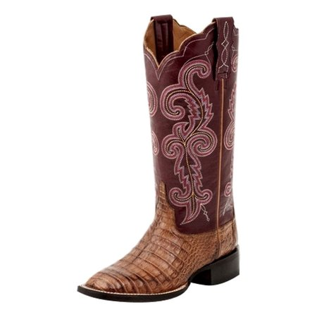 37e80004349 Lucchese Western Boots Womens Annalyn Square Toe Caiman Tan M4941 ...