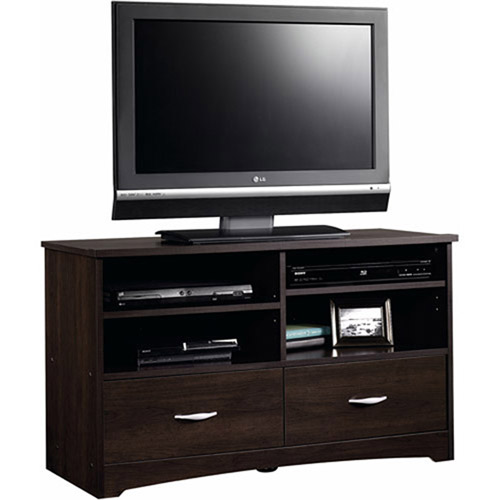"Sauder Beginnings TV Stand for TVs up to 46"", Cinnamon Cherry Finish"