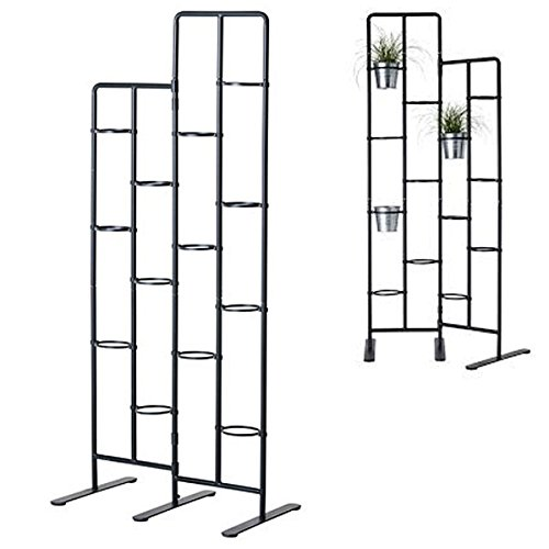 Vertical Metal Plant Stand 13 Tiers Display Plants Indoor or Outdoors on a Balcony Patio Garden or Use as a Room Divider or Vertical Garden Inside Your Home or Great for Urban Gardening (Dark Gray)