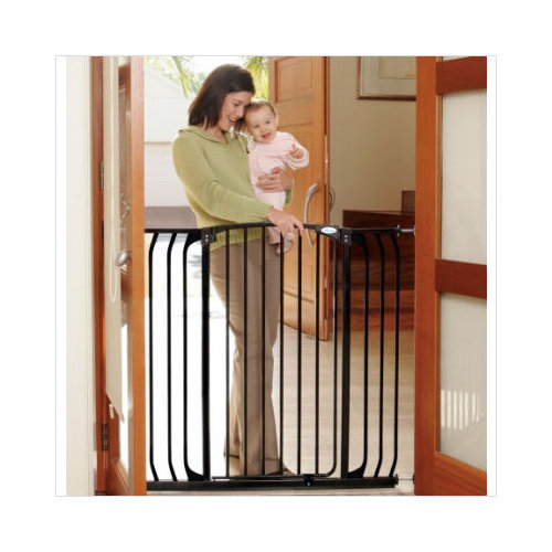Bundle-80 Dream Baby Extra Tall Hallway Swing Closed Saftey Gate in Black (Set of 2)