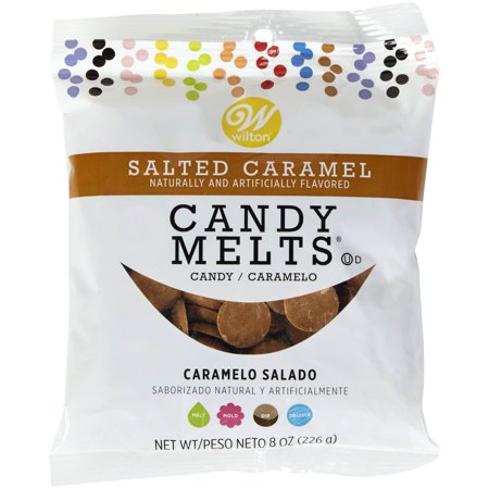 (4 Pack) Wilton Salted Caramel Candy Melts Candy, 8 oz. - Orange Candy Melts