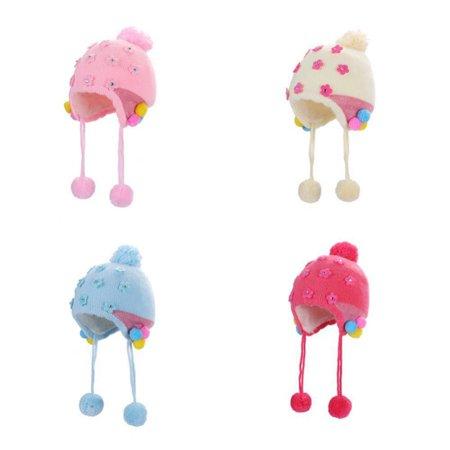 876320a733c9 Zerone - Zerone Baby Warmer Hat Infant Toddler Knitted Crochet ...